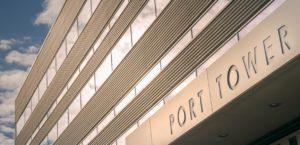 Kokkolan Sataman kulkuluvat Port Towerista
